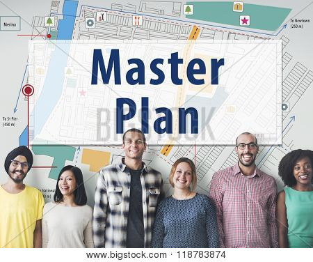 Master Plan Strategy Vision Tactics Design Planning Concept