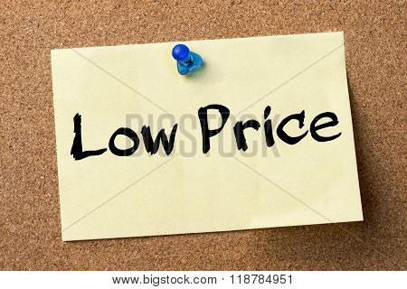 Low Price - Adhesive Label Pinned On Bulletin Board