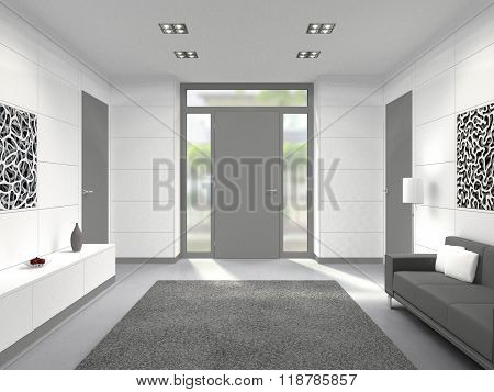 modern hallway entrance interior
