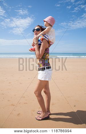 Woman Shouldering Baby