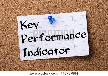 Key Performance Indicator Kpi - Teared Note Paper Pinned On Bulletin Board