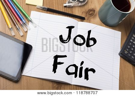 Job Fair - Note Pad With Text