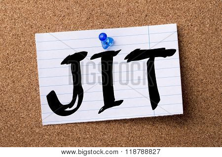 Jit - Teared Note Paper Pinned On Bulletin Board