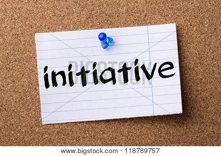 Initiative - Teared Note Paper Pinned On Bulletin Board