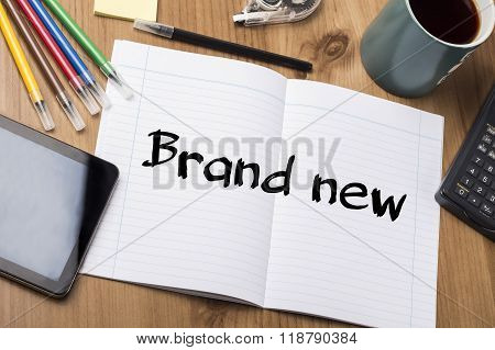 Brand New - Note Pad With Text