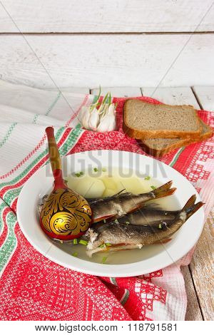 Fish Soup In The Kitchen
