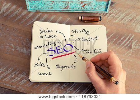 Handwritten Text Seo As Search Engine Optimization