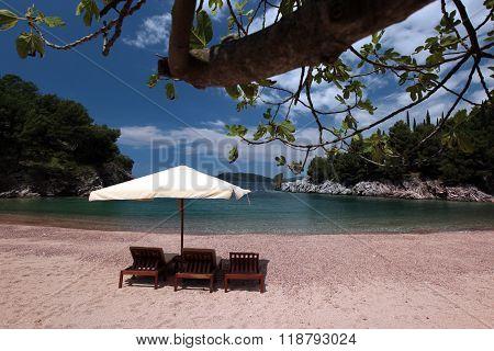 Europe Balkan Montenegro Milocer Beach