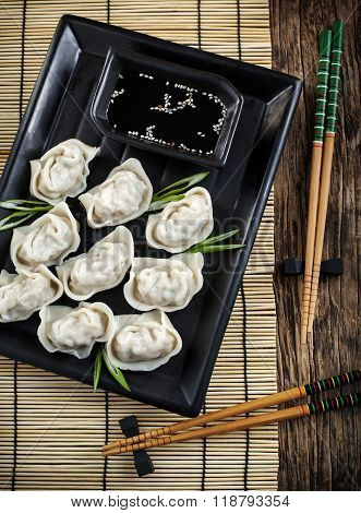 Pork And Vegetable Wonton With Soy Sauce