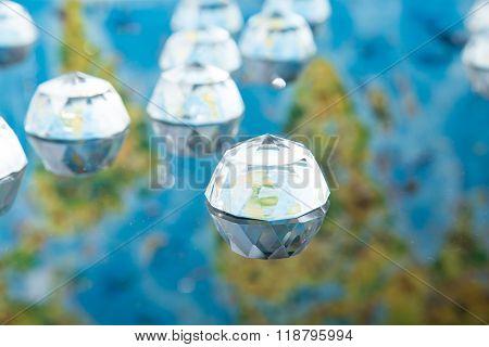 Earth In A Glass Hemisphere