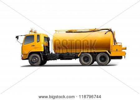 Large Tank Truck Isolated With White Background.