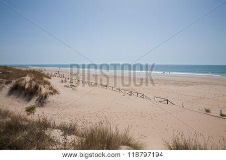 Landscape Vejer Beach In Cadiz