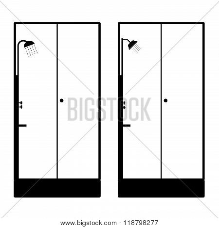 Shower Head Black Illustration