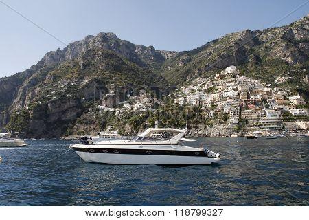 Amalfi old town landmark in Italy Sorrento coast.