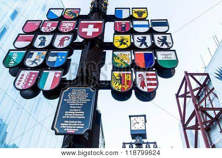 Swiss Court Cantonal Tree London England