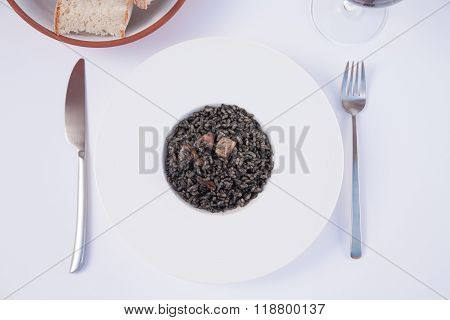 Black Rice Dish Ready To Eat