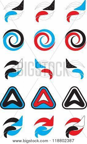 Logo Set Abstract Unusual Icon