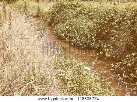Retro Looking Water Rivulet