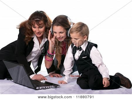 The Business Woman And Her Children