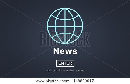 News Report Broadcast Information Update Concept