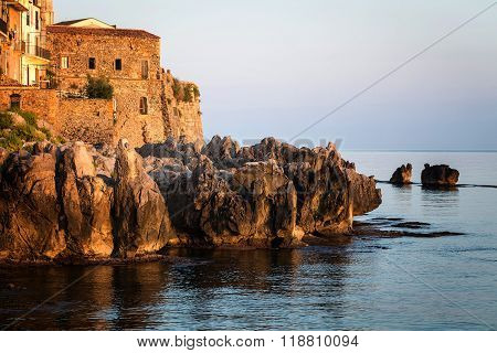 the historical town of Cefalu in Sicily