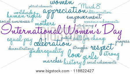 International Women's Day Word Cloud