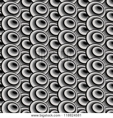 Abstract Black And White Seamless Geometric Background From Ellipses