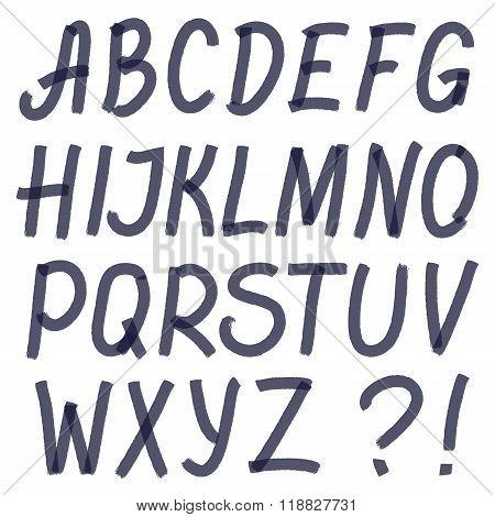 Handwritten Highlighter Alphabet