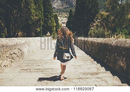 Walking down on Calvary Steps