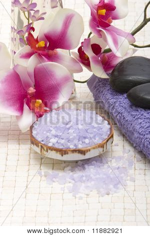 Various spa and bath objects