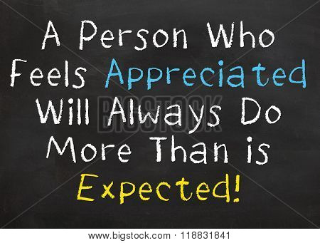 A Person Who Feels Appreciated