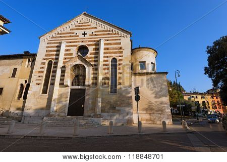 Church Of Santo Stefano - Verona Italy
