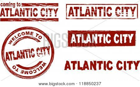 Ink stamp set Atlantic City