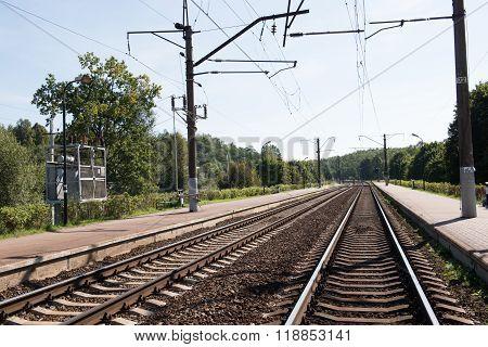 Railway Track in Minsk, Belarus