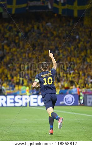 Zlatan Ibrahimovic Of Sweden