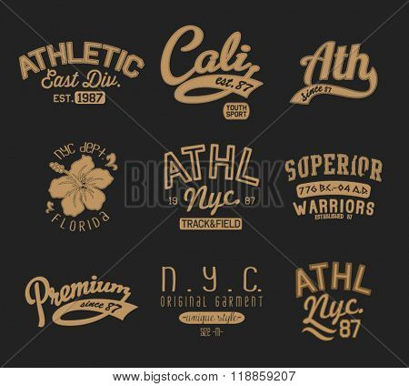 college athletic varsity badge label 3