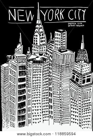 new york city sketch illustration