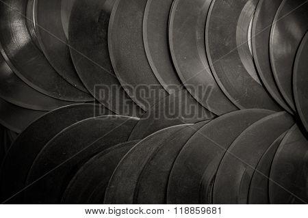 Many Vintage 45S vinyl Background