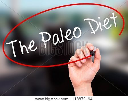 Man Hand Writing The Paleo Diet With Black Marker On Visual Screen