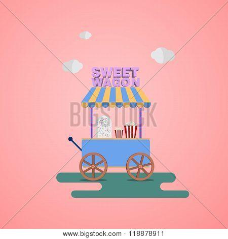 Sweet shop Wagon