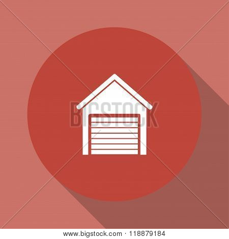 Garage Icon. Modern Design Flat Style Icon