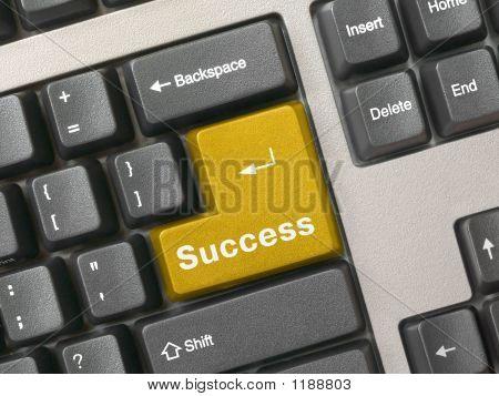 Tastatur goldenen Schlüssel zum Erfolg