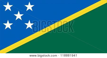 Standard Proportions For Solomon Islands Flag