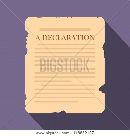 Declaration flat icon