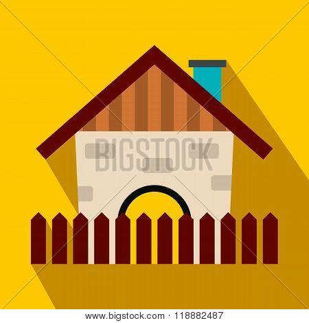 Farm house flat icon