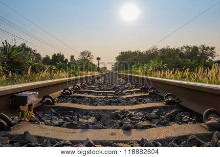 Railway Track Go Forward