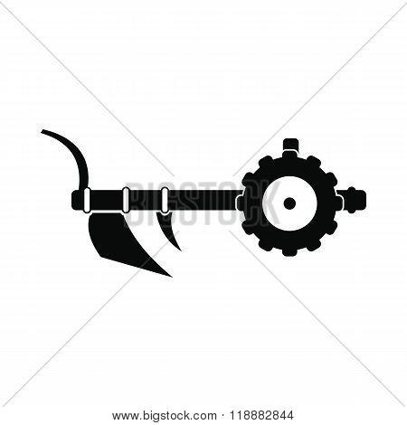 Plough icon black