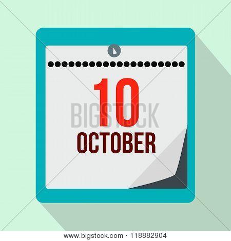 Columbus day calendar flat icon