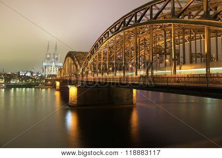 Cologne Cathedral and Hohenzollern Bride