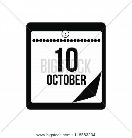 Columbus day calendar icon
